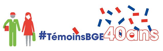 Logo témoins 40 ans BGE