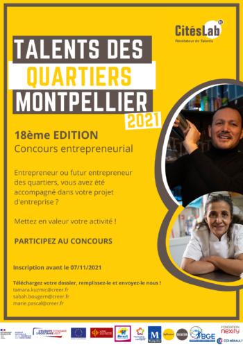 Talents des Quartiers Montpellier - Citélabs - 2021 - affiche
