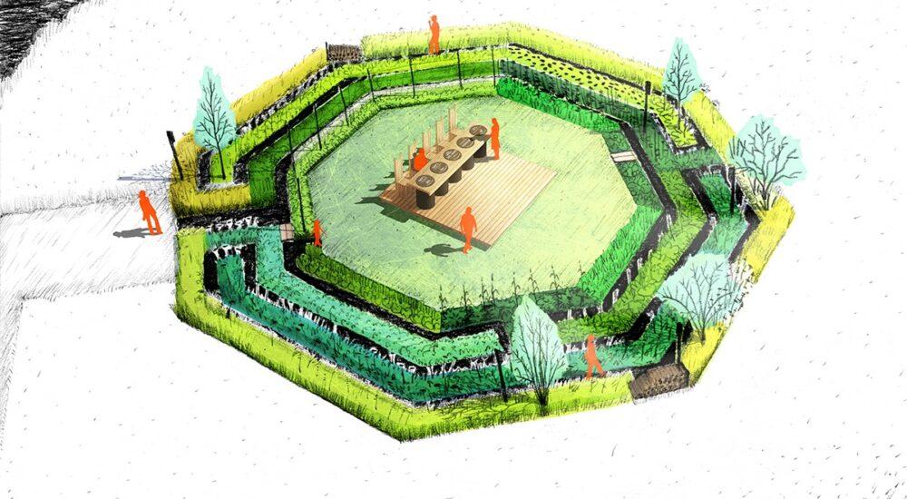 Crédit Photo - Atelier du Dehors - Jardin le banquet cornélien