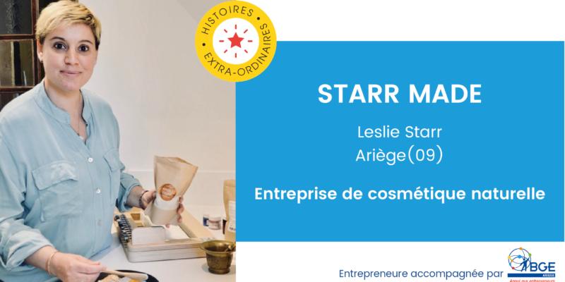 Starr Made - entrepreneure Leslie Starr - BGE Ariège